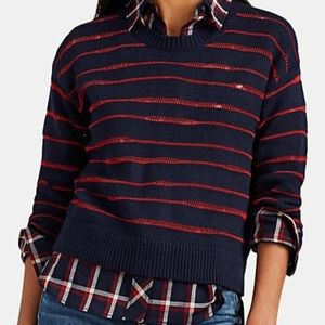 Rag and Bone Striped Stockinette-Stitched Sweater